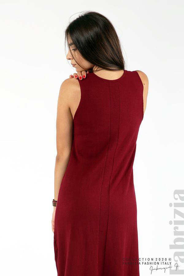 Комплект рокля без ръкав и широка блуза бордо 6 fabrizia