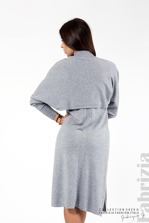 Комплект рокля без ръкав и широка блуза сив 6 fabrizia
