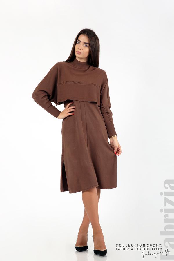Комплект рокля без ръкав и широка блуза т.кафяв 1 fabrizia