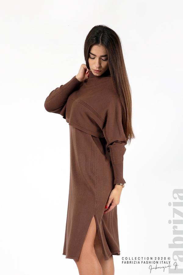 Комплект рокля без ръкав и широка блуза т.кафяв 3 fabrizia
