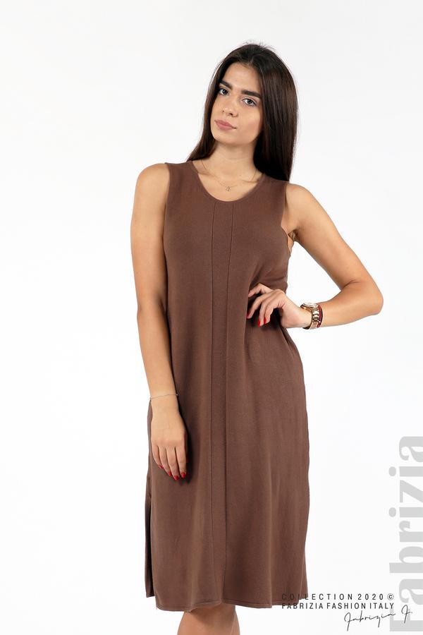Комплект рокля без ръкав и широка блуза т.кафяв 2 fabrizia