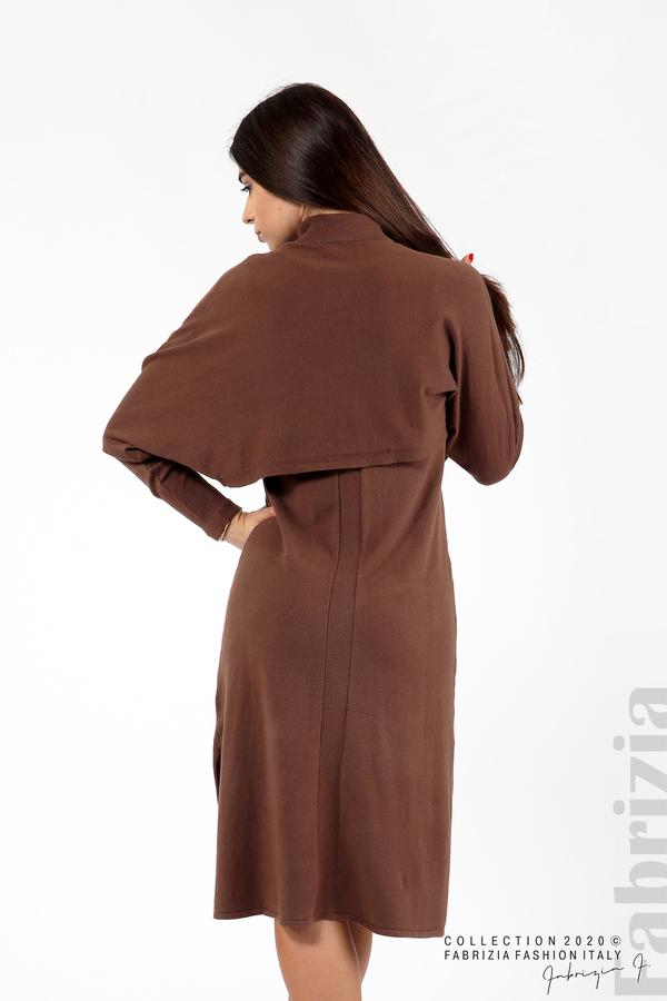 Комплект рокля без ръкав и широка блуза т.кафяв 6 fabrizia