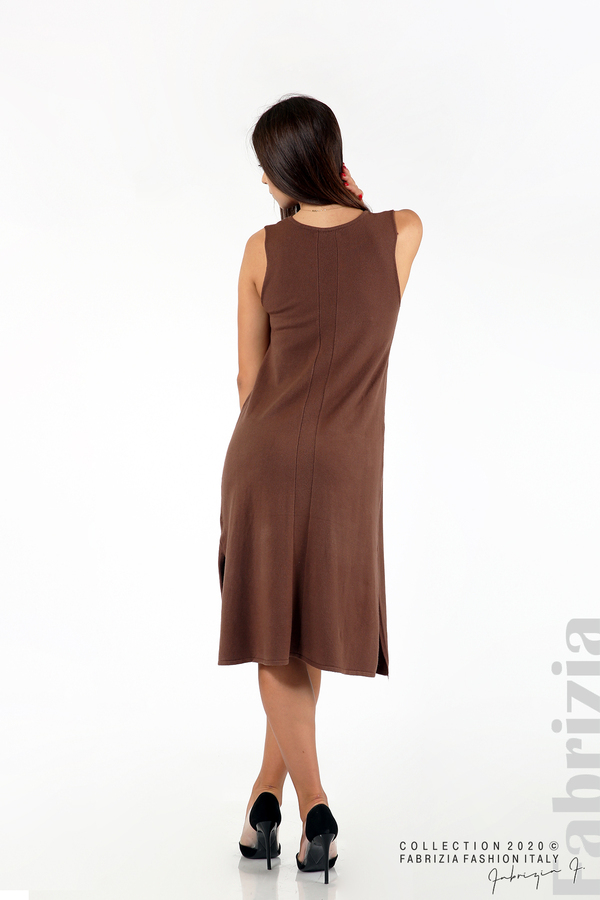 Комплект рокля без ръкав и широка блуза т.кафяв 5 fabrizia