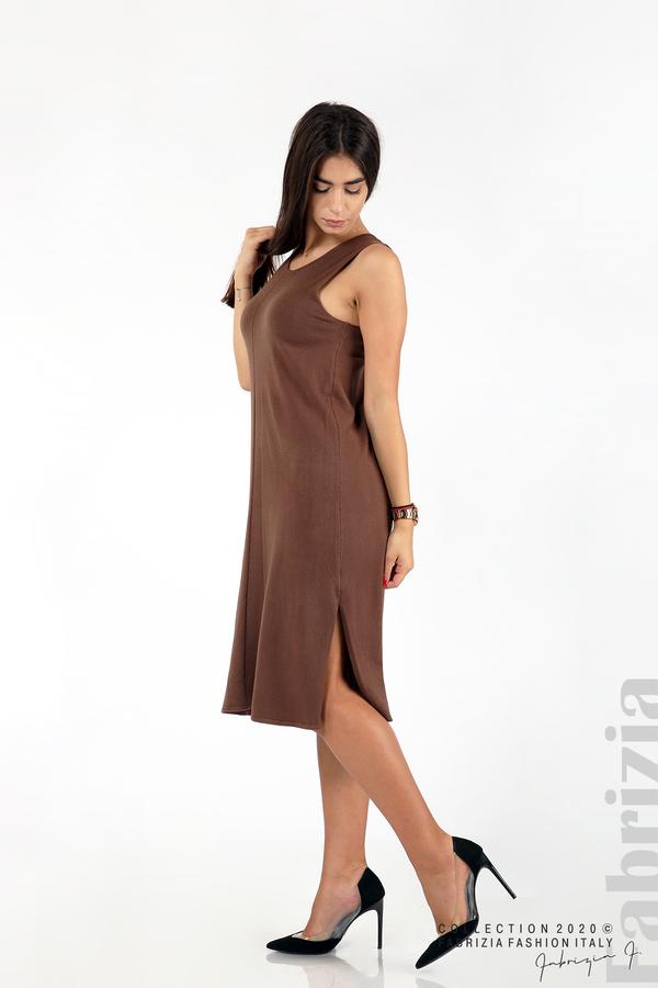 Комплект рокля без ръкав и широка блуза т.кафяв 4 fabrizia