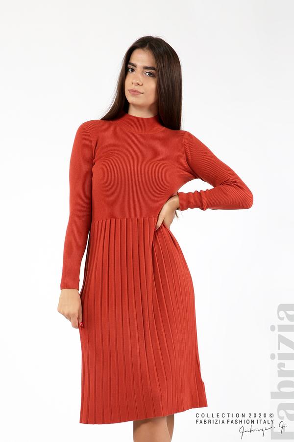 Комплект рипсена рокля и горна част без ръкави керемида 4 fabrizia