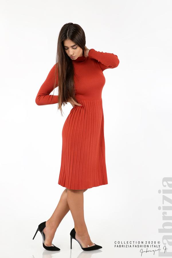 Комплект рипсена рокля и горна част без ръкави керемида 3 fabrizia