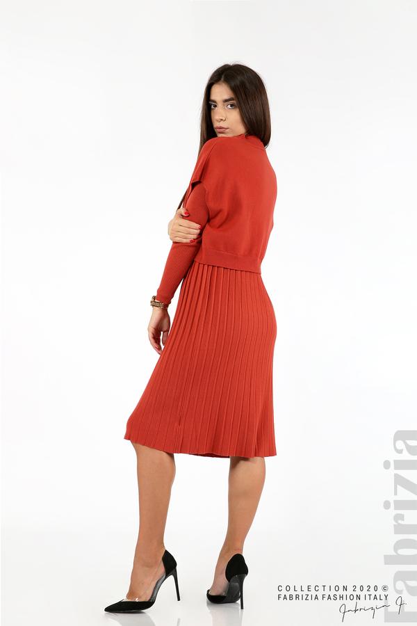 Комплект рипсена рокля и горна част без ръкави керемида 7 fabrizia