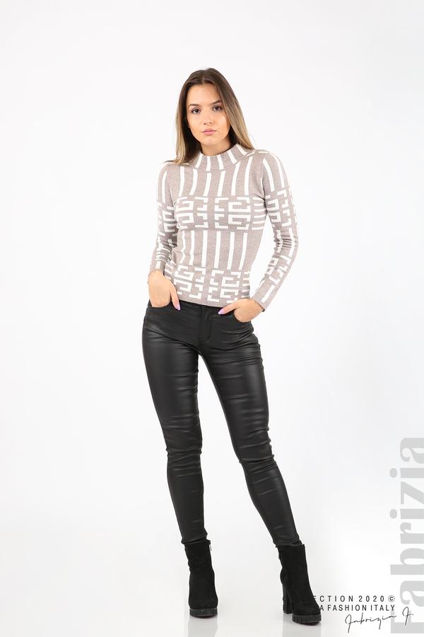 Дамска фигурална блуза мляко с какао 3 fabrizia