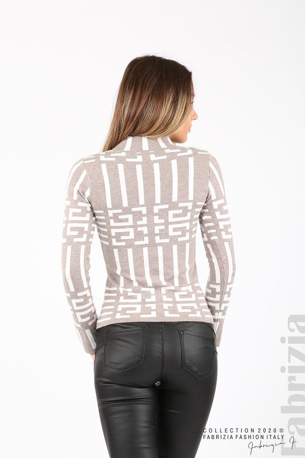 Дамска фигурална блуза мляко с какао 5 fabrizia