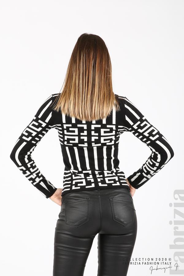 Дамска фигурална блуза черен 5 fabrizia