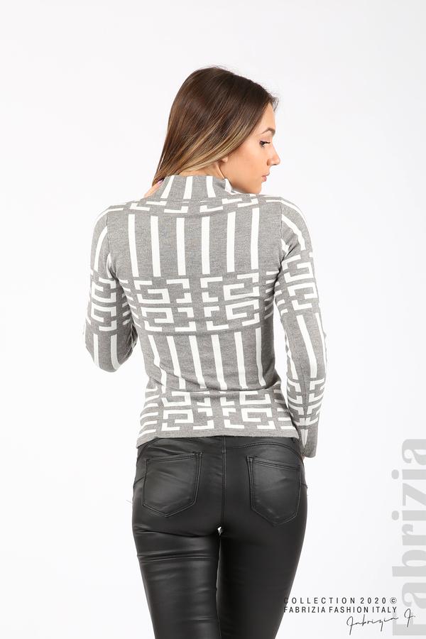 Дамска фигурална блуза сив 5 fabrizia