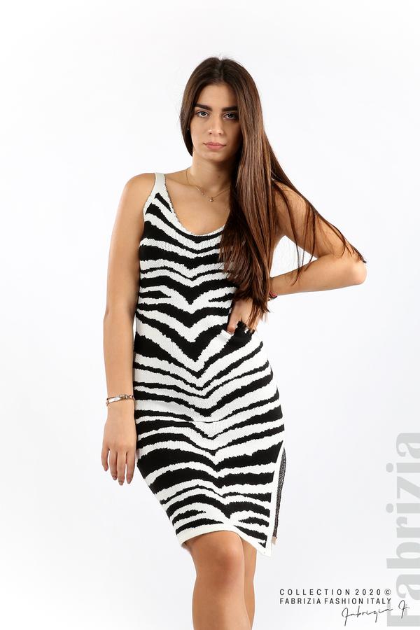 Къса плетена рокля  бял 4 fabrizia