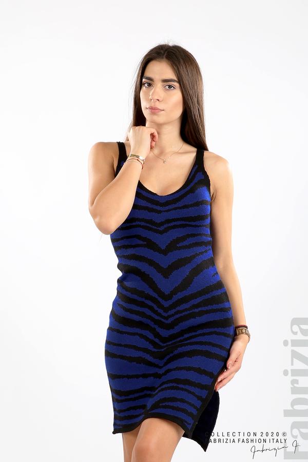 Къса плетена рокля кр.син 3 fabrizia