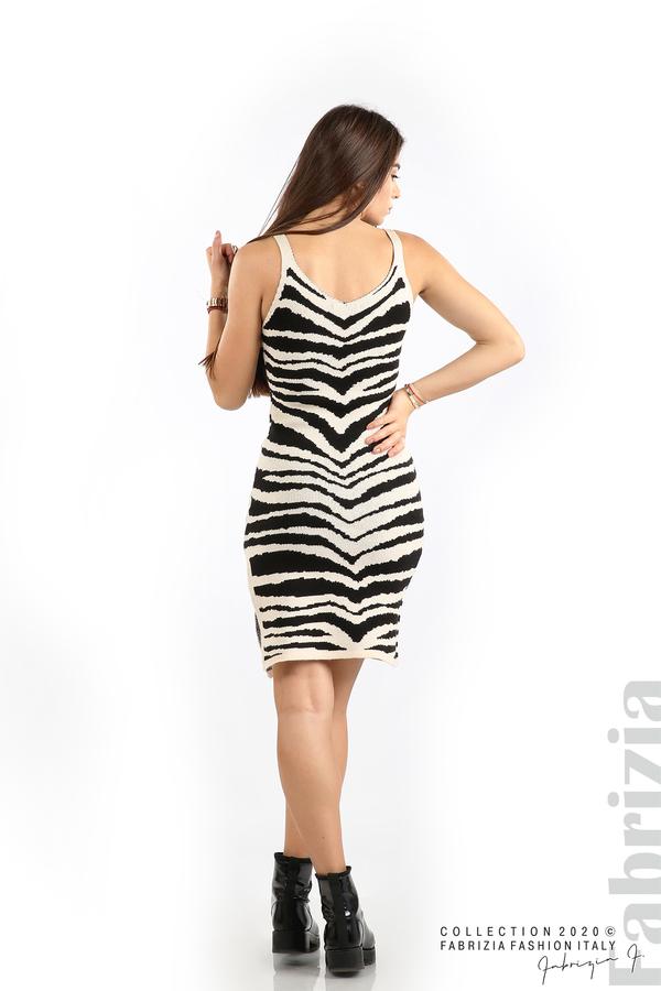 Къса плетена рокля бежов 6 fabrizia