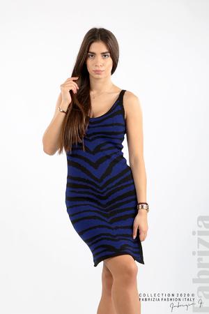Къса двуцветна рокля плетиво