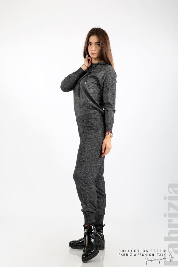Дамски комплект с ламе черен 1 fabrizia