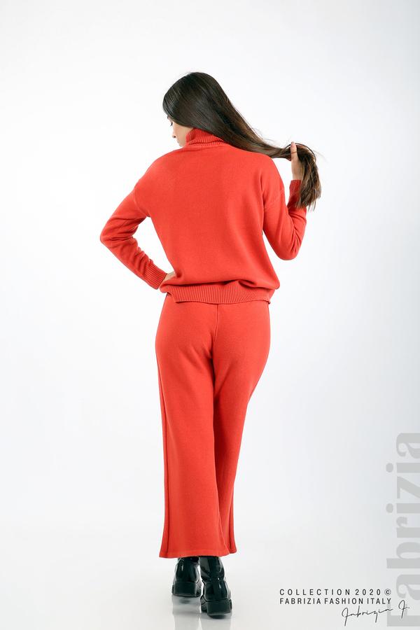 Комплект блуза с поло яка и панталон керемида 6 fabrizia