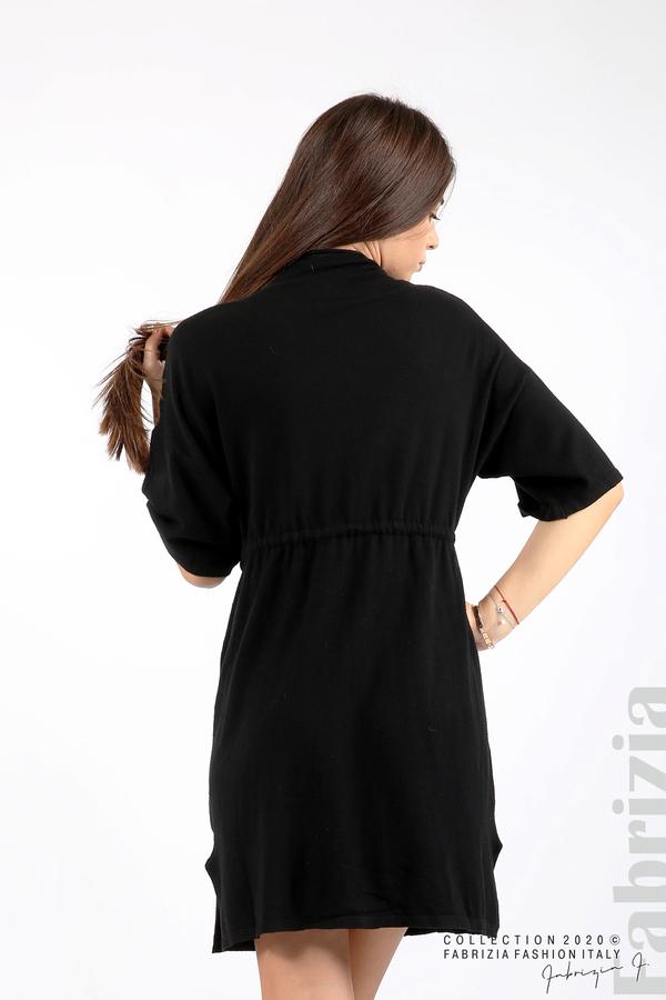 Трикотажна рокля с пристягане на талията черен 6 fabrizia
