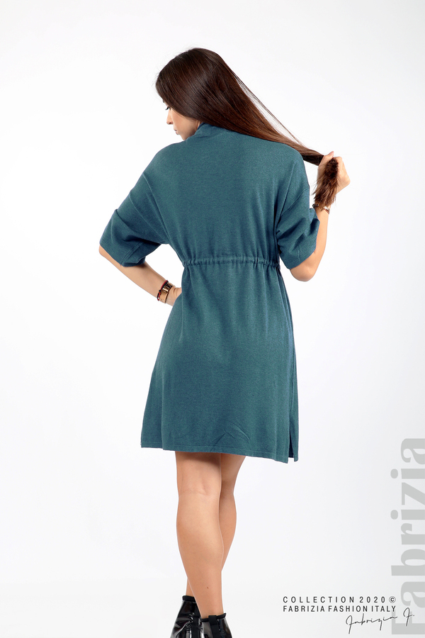 Трикотажна рокля с пристягане на талията д.син 6 fabrizia