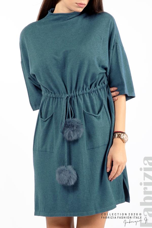 Трикотажна рокля с пристягане на талията д.син 2 fabrizia