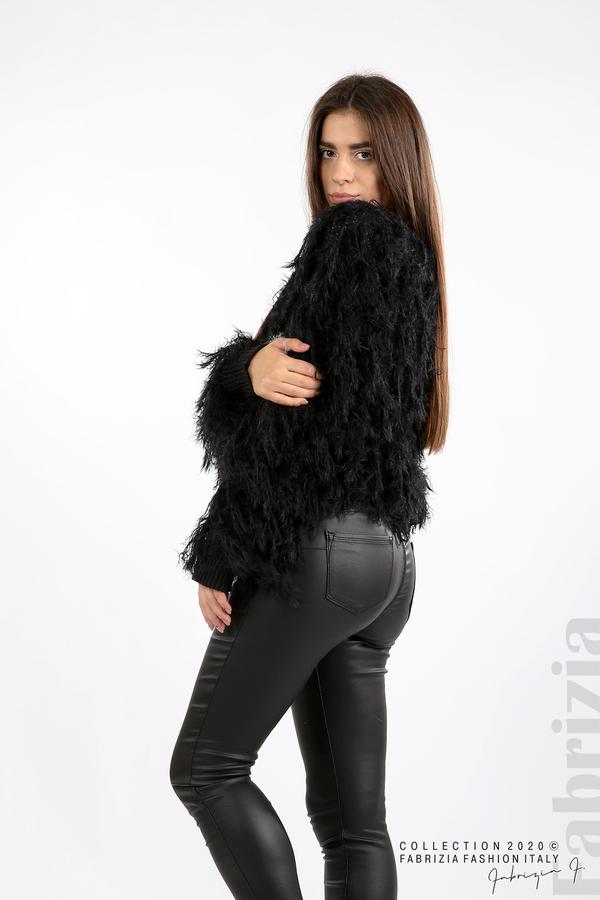 Блуза едро плетиво с висящи елементи черен 5 fabrizia