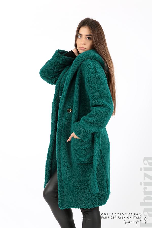 Едноцветно палто с качулка отанио 3 fabrizia