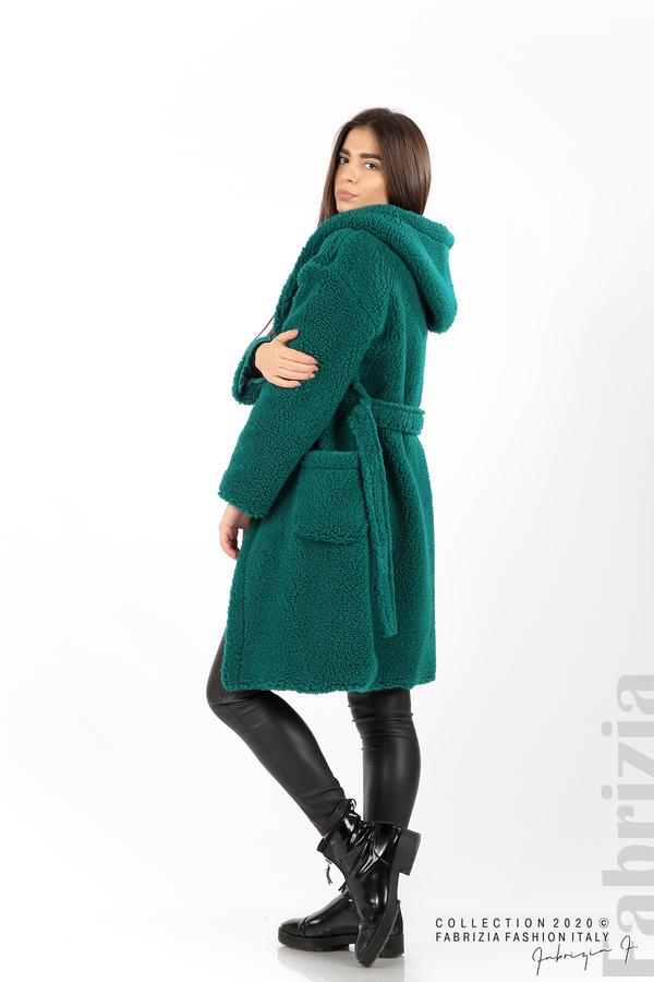 Едноцветно палто с качулка отанио 4 fabrizia