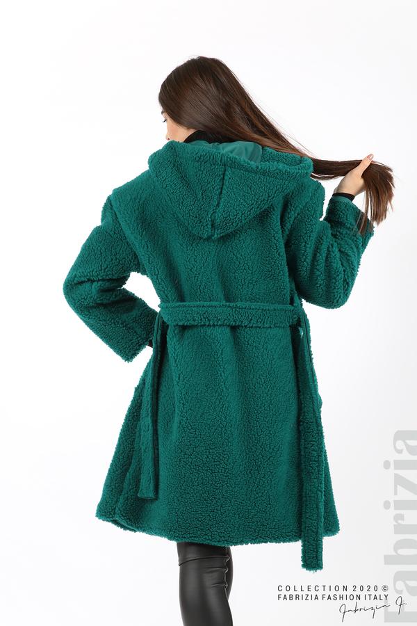 Едноцветно палто с качулка отанио 6 fabrizia