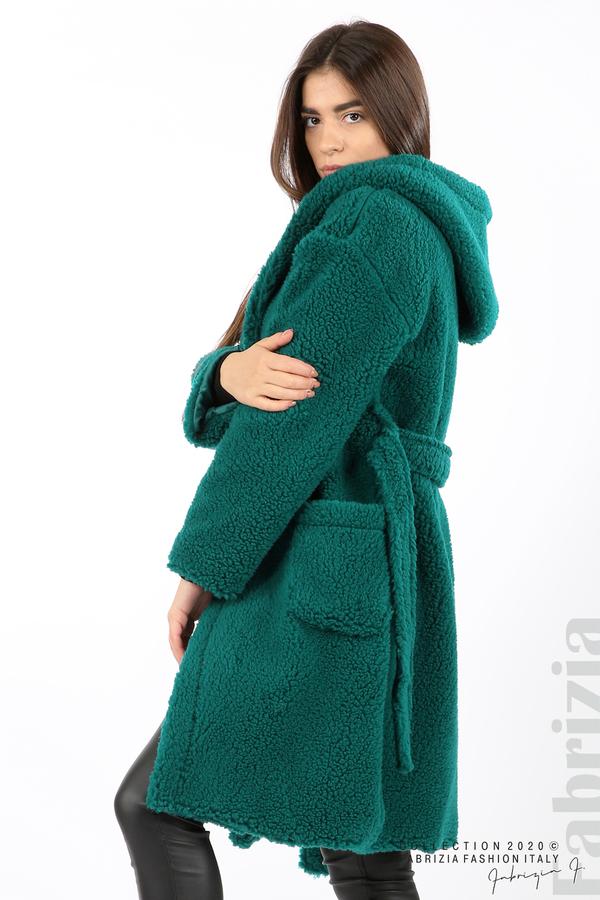 Едноцветно палто с качулка отанио 5 fabrizia