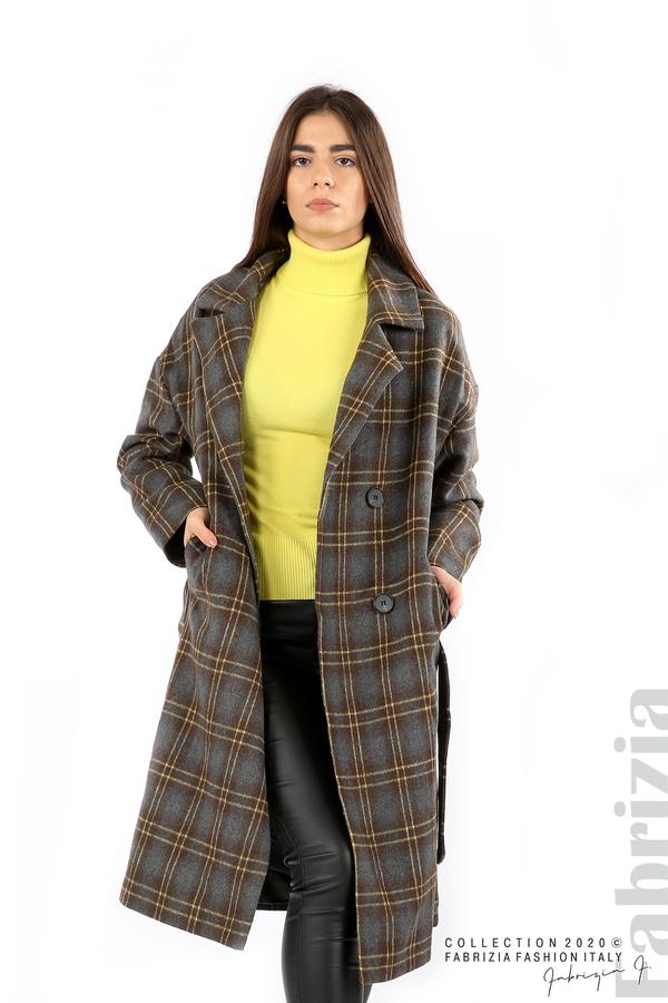 Елегантно дълго палто сив 1 fabrizia