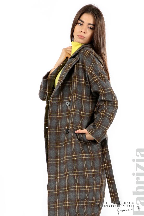 Елегантно дълго палто сив 4 fabrizia