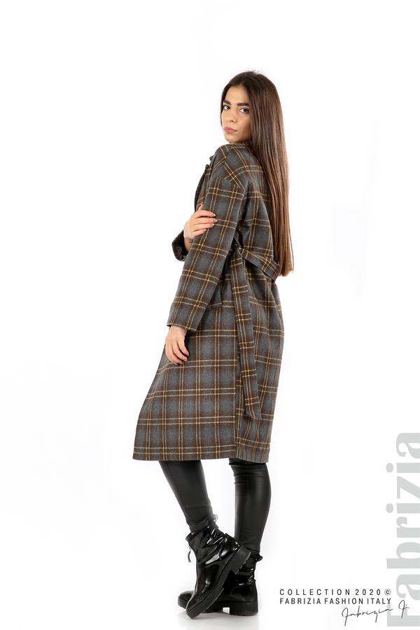 Елегантно дълго палто сив 6 fabrizia
