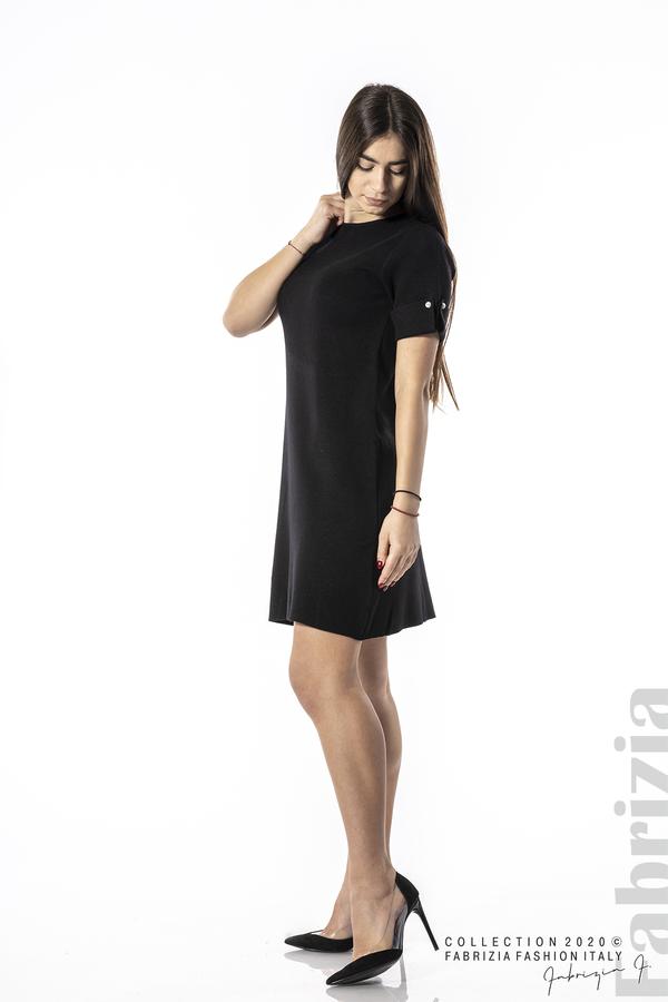 Къса едноцветна рокля черен 3 fabrizia
