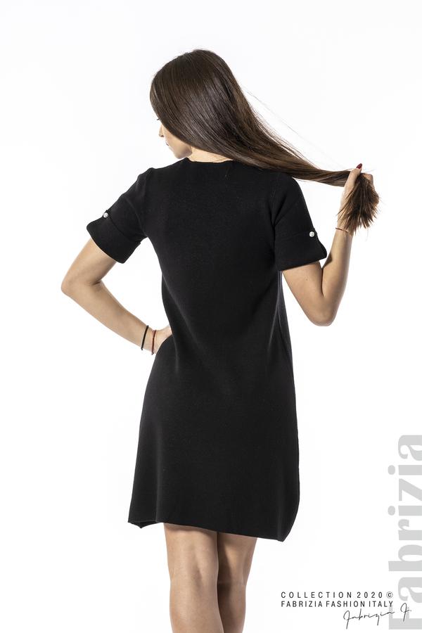 Къса едноцветна рокля черен 5 fabrizia
