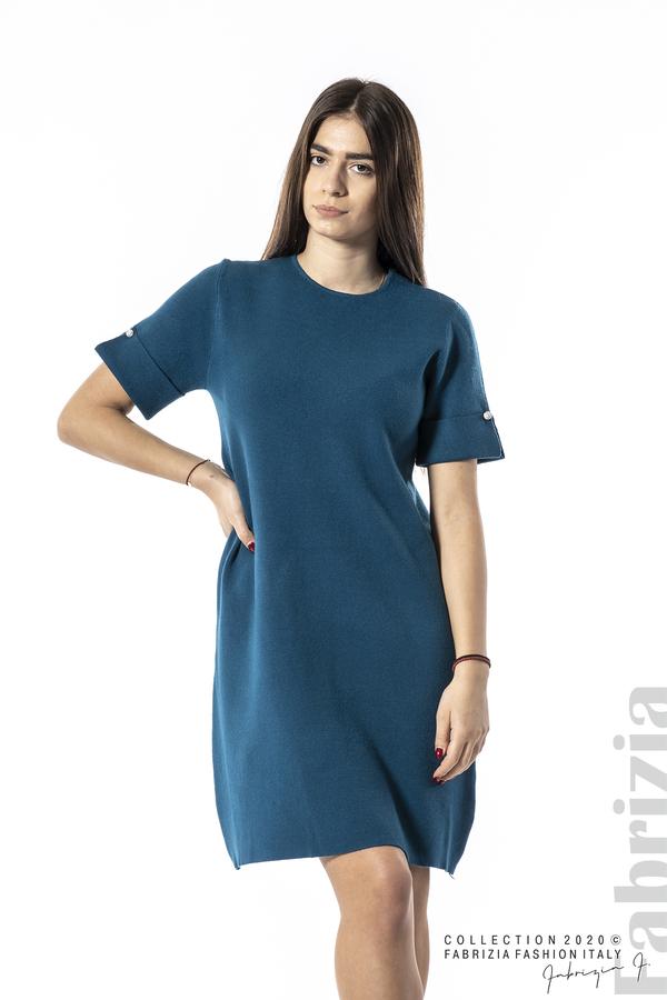 Къса едноцветна рокля отанио 1 fabrizia