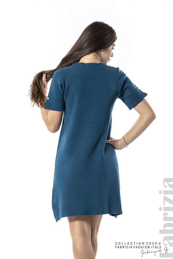 Къса едноцветна рокля отанио 4 fabrizia