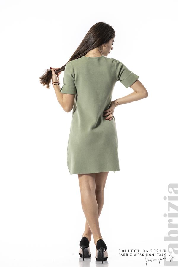 Къса едноцветна рокля бл.зелен 5 fabrizia
