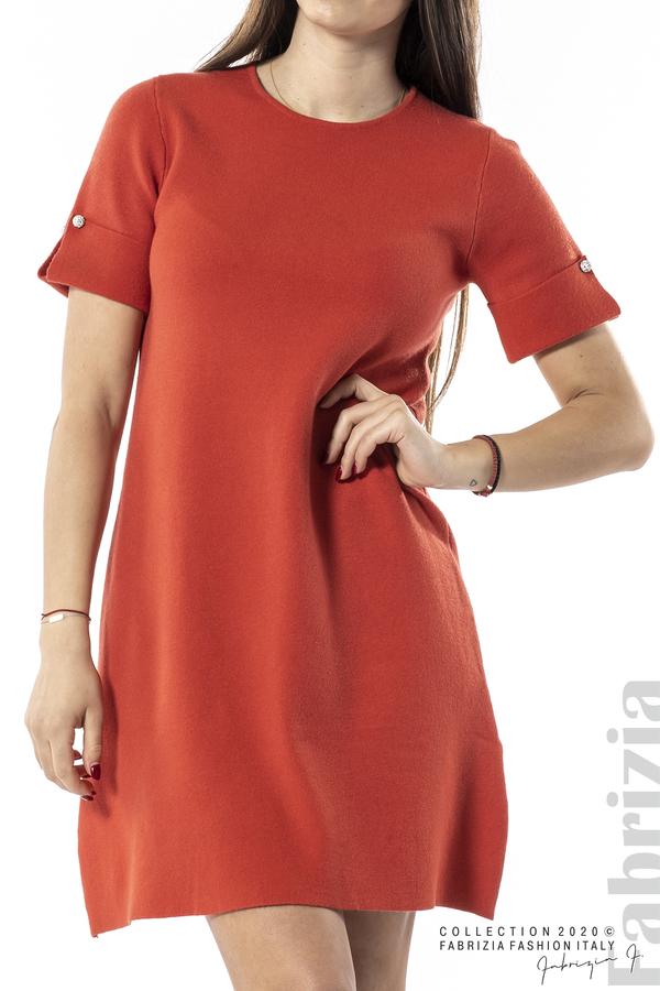 Къса едноцветна рокля т.оранж 2 fabrizia