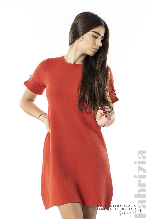 Къса едноцветна рокля т.оранж 1 fabrizia