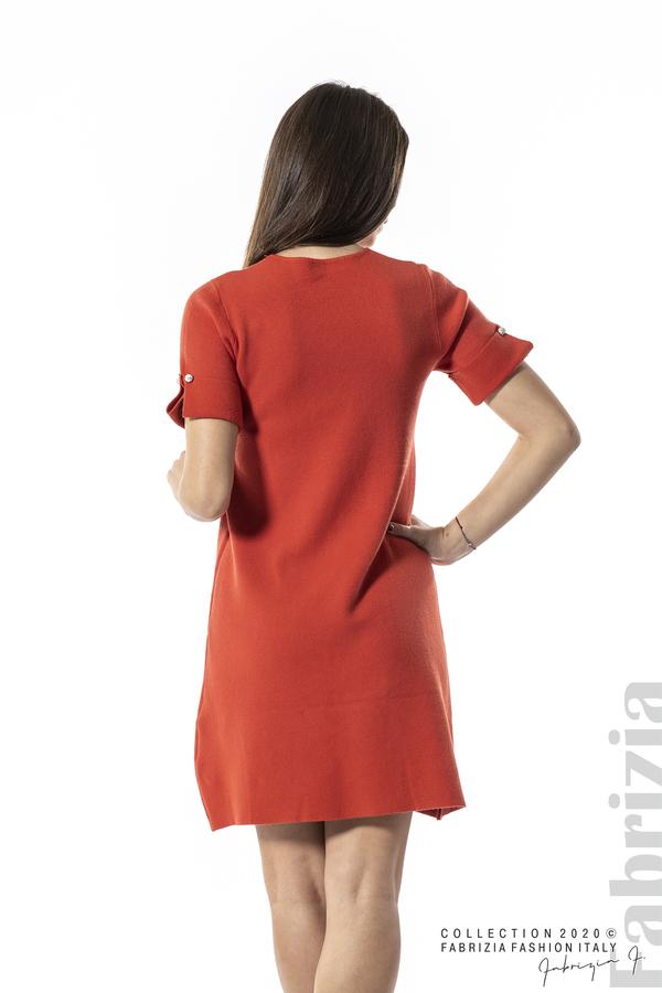 Къса едноцветна рокля т.оранж 5 fabrizia