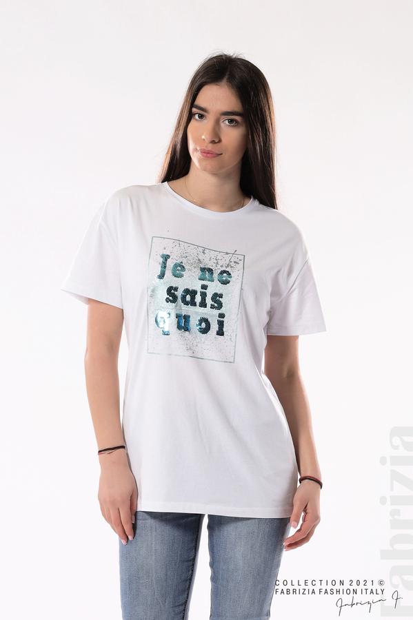 Блуза Je ne sais quoi бял/син 1 fabrizia