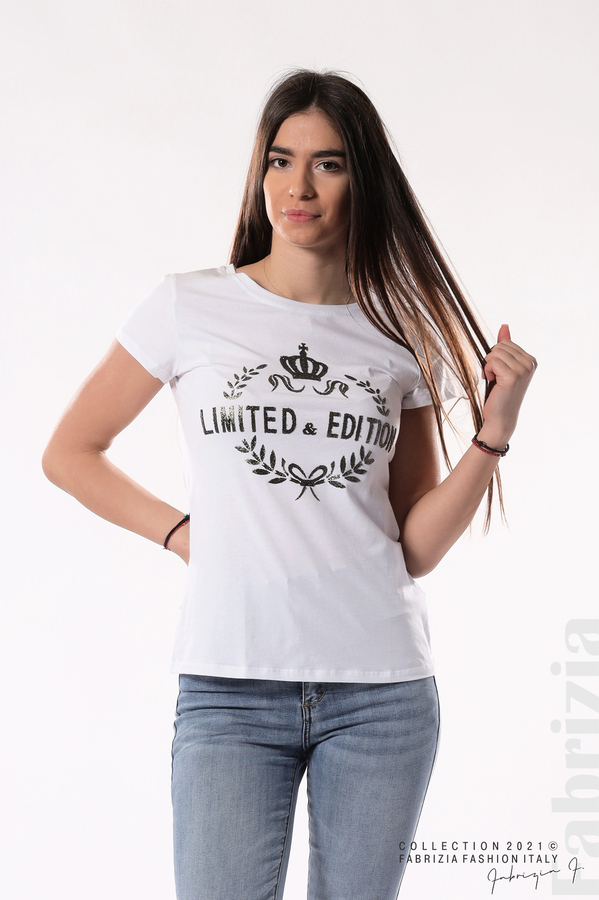 Блуза Limited Edition бял/златист 1 fabrizia