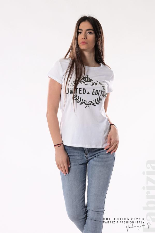 Блуза Limited Edition бял/златист 4 fabrizia