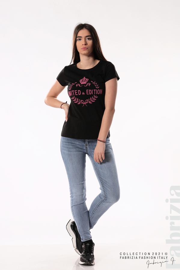 Блуза Limited Edition черен/розов 3 fabrizia