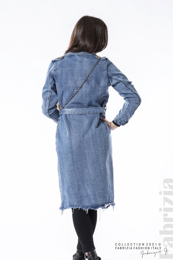 Дълго дънково яке с чантичка 9 fabrizia