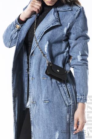 Дълго дънково яке с чантичка