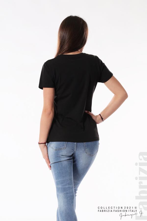 Блуза панда от пайети черен 5 fabrizia