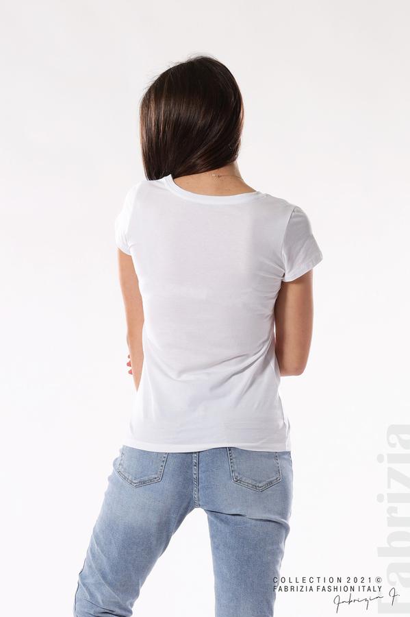Блуза Summer клонки от пайети бял/златист 5 fabrizia