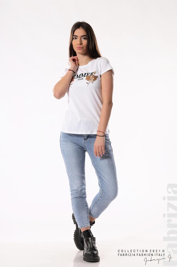 Блуза Summer клонки от пайети бял/златист 3 fabrizia