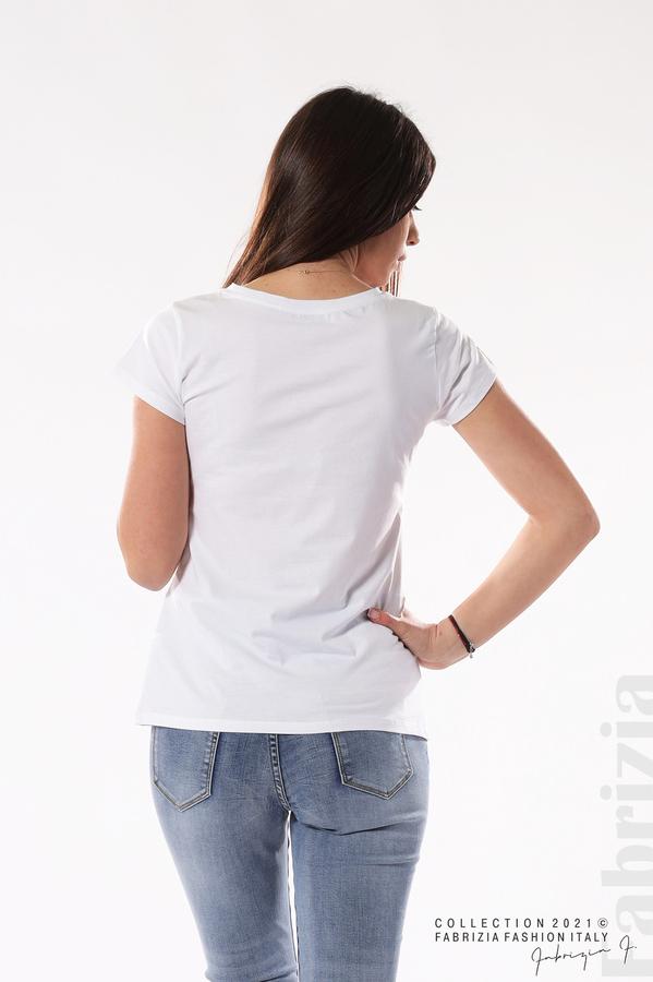 Блуза Black Swan бял/розов 5 fabrizia